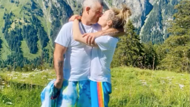 Photo of Robbie Williams and Ayda Field's incredible wedding anniversary holiday in the mountains