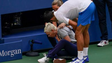 Photo of Novak Djokovic Disqualified from U.S. Open After Accidentally Striking Lineswoman with Ball