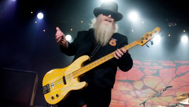 Photo of Dusty Hill, ZZ Top bassist, dead at 72.