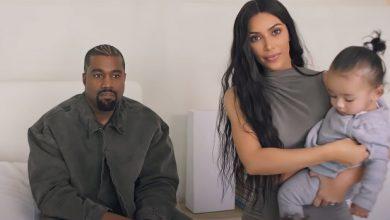 Photo of Kanye West doesn't rap negatively about Kim Kardashian on new album.