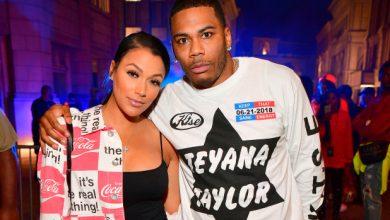 Photo of Nelly's longtime girlfriend, Shantel Jackson, says they broke up.